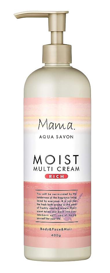 然とした控える不公平ママアクアシャボン モイストマルチクリーム リッチ フラワーアロマウォーターの香り 18A 400g