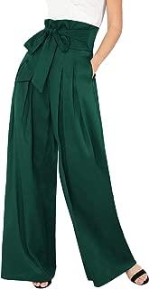 Womens Wide Leg Pants High Waist Palazzo Lounge Long Trousers