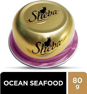 SHEBA Ocean Fish Seafood Domes Cat Food, Multipack, 24 x 80g