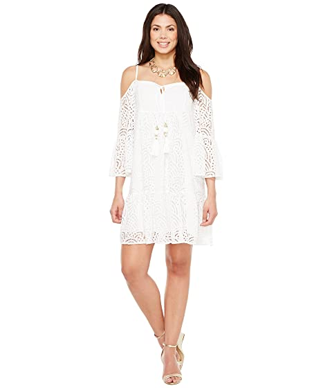Alanna Resort Marine Tropic Lace White Dress Lilly Pulitzer 4qxtf5Zw