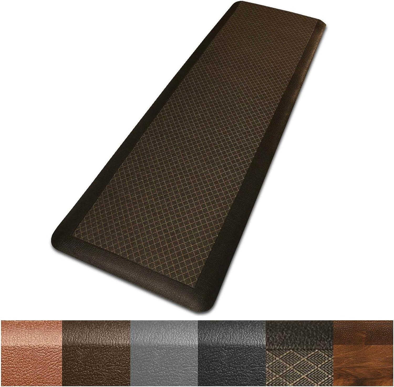 Kitchen Mat   Anti Fatigue Mat, 3 4 Thick   Ergonomically Engineered, Non-Slip, Waterproof   20 x72  - Dark Brown