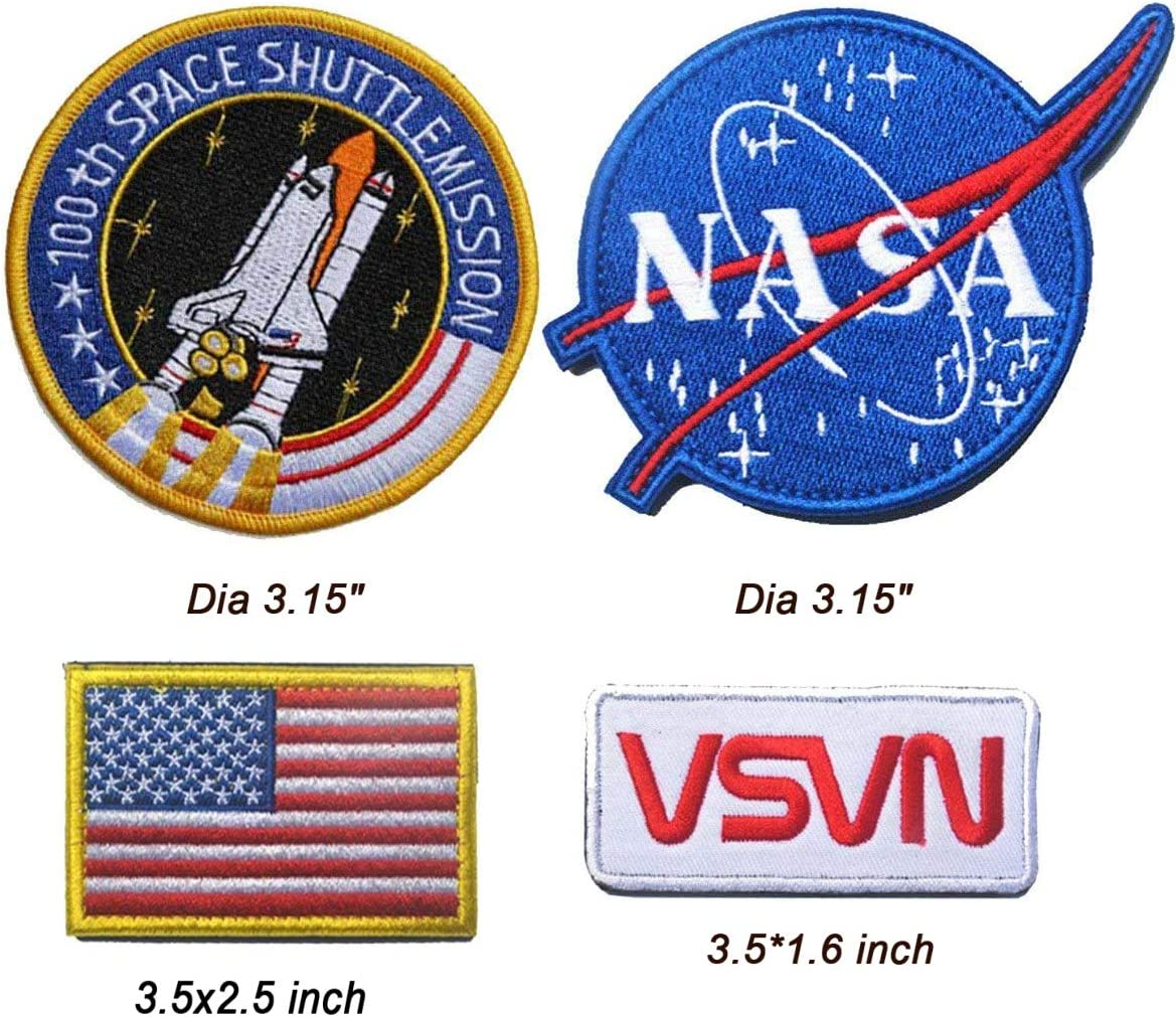 Amazon.com Antrix 20 Pieces US American Patch NASA Patch Hook ...