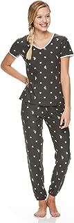 Womens Short Sleeve Shirt and Lounge Skinny Pajama Pants...