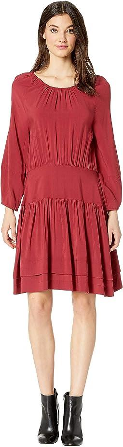 Pintuck Tiered Dress