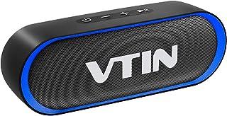 VTIN R4 Altavoz Bluetooth 12W, Altavoz Portatil Bluetooth 5.0, 24H de Reproducción, Altavoz Exterior con Micrófono, AUX/TF, para Móvil, Tabletas, MP3, Fiestas, Viajes