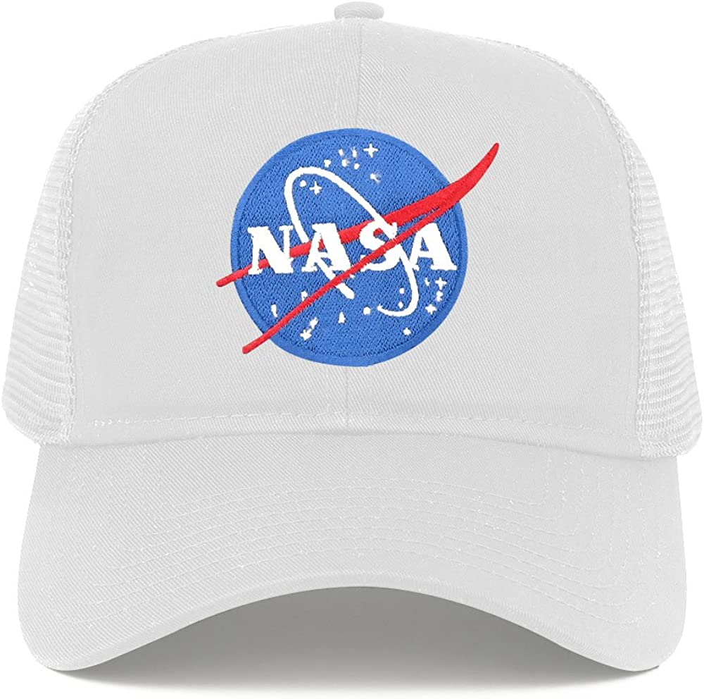 NASA Insignia Small Space Logo Embroidered Iron on Patch Snapback Mesh Trucker Cap