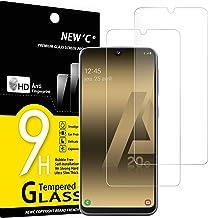 NEW'C Lot de 2, Verre Trempé Compatible avec Samsung Galaxy A20e, Film Protection écran sans Bulles d'air Ultra Résistant (0,33mm HD Ultra Transparent) Dureté 9H Glass