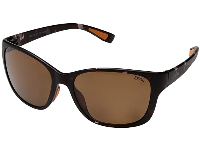 Zeal Optics  Magnolia (Matte Tortoise with Polarized Copper Lens) Athletic Performance Sport Sunglasses
