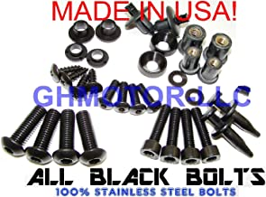 GHMotor Complete Fairings Bolts Screws Fasteners Kit Set Made in USA for 2011 2012 2013 2014 2015 ZX10R ZX-10R Black