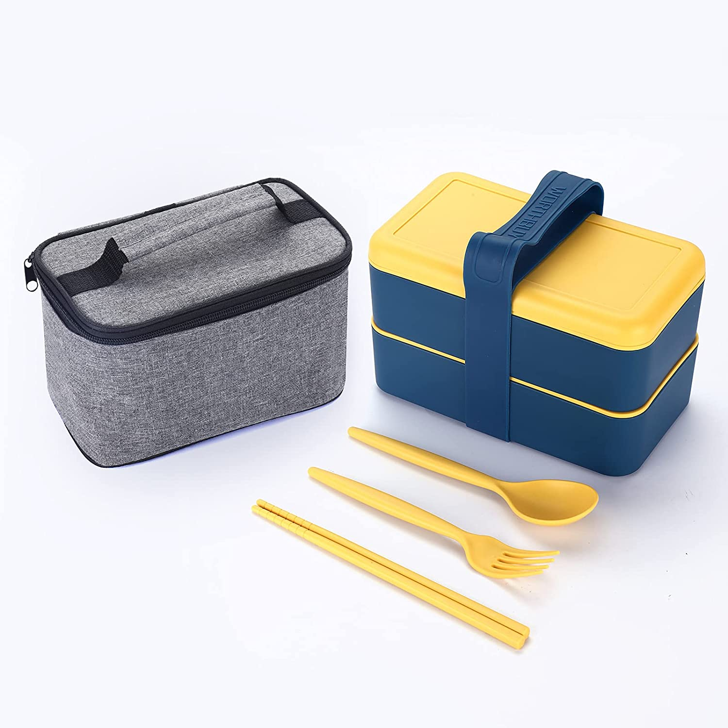 100% quality warranty! ArderLive Bento Box Wheat 67% OFF of fixed price Straw wi Portable Lunch Leakproof