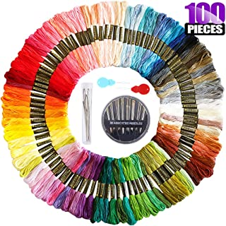 Kicosy 50 Pcs Plastic Needle Threaders with Clear Box Wire Loop Assorted Colors Cross Stitch Insertion Hand Machine Sewing Tool for Embroidery