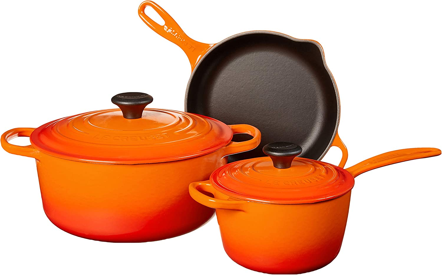 Le Creuset Enameled Cast Iron Signature Cookware Set, 5 pc. , Flame