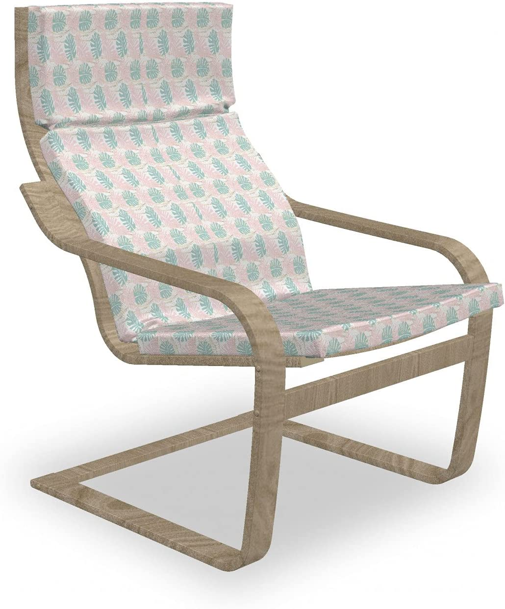 Super special price Ambesonne Blush Pink Armchair Pad Very popular Tropical and Slipcover Patter