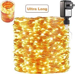 ZAECANY 165 Ft Ultra Long 500 LEDs LED String Lights Plug in, Waterproof..