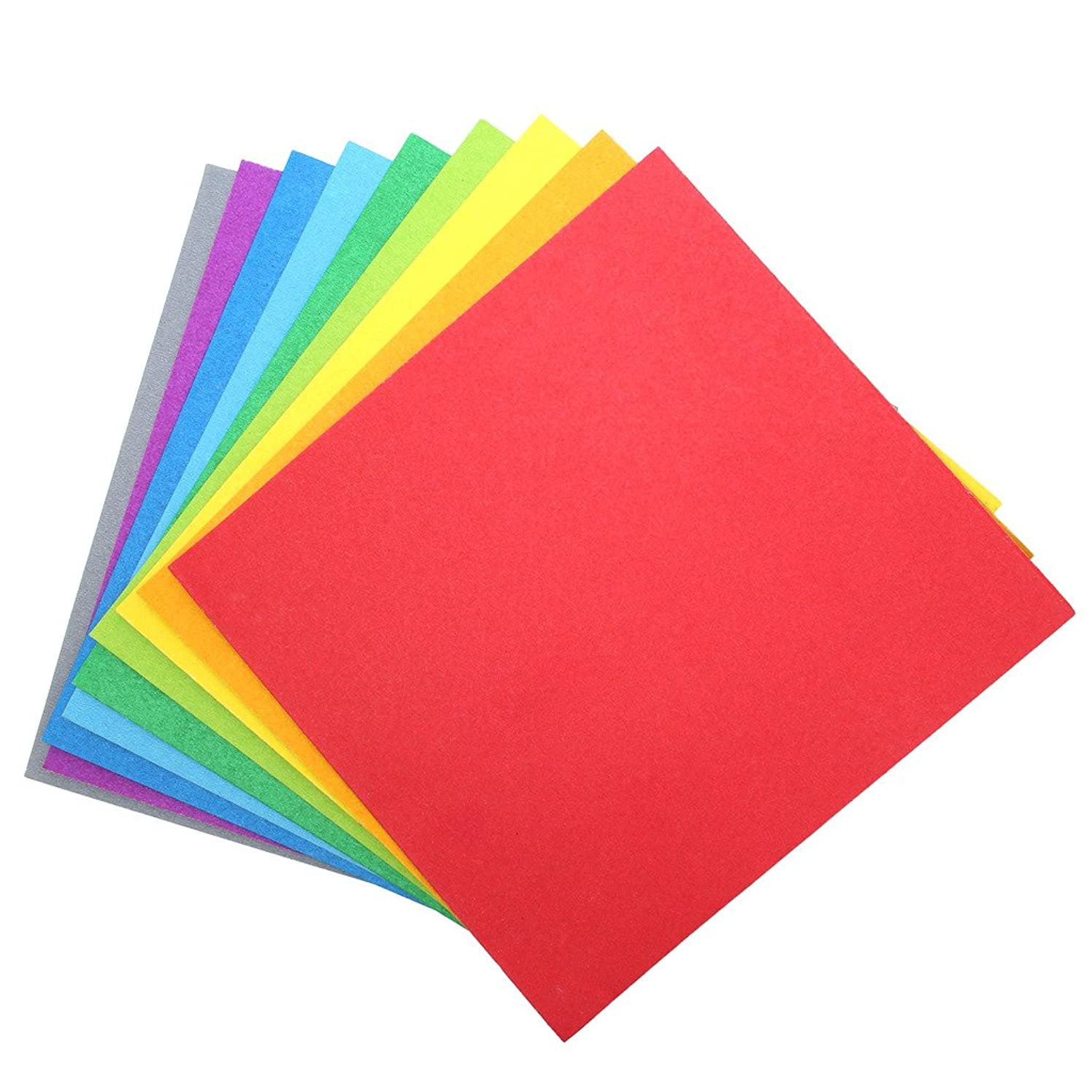 "9 Color Cardstock Paper Pack (54pc) – 8"" x 8"" Color Pages for Scrapbook, Greeting Cards, Arts and Crafts For Kodak Mini Instant Printer Picture Projects"