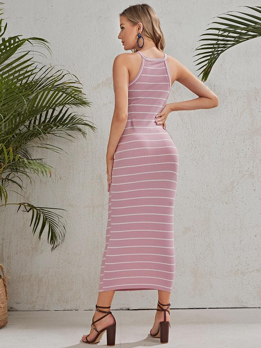 Limited time trial New product!! price Shreem85 Maternity Dress Color Striped Rib-Knit