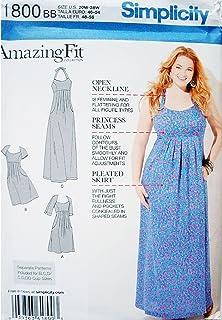 Simplicity 1800Women's & Plus Size Amazing Fit Dresses, Paper, White, BB (20W-28W)