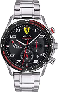 Scuderia Ferrari Men's Analogue Quartz Watch with Stainless Steel Strap 0830720