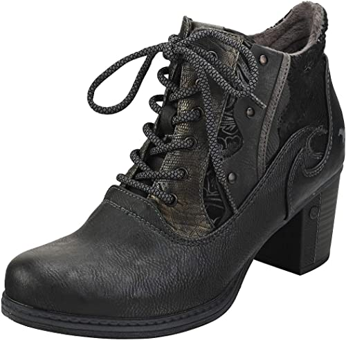 Mustang Side Zip Heel mujeres botas Botines Graphite - 41 EU