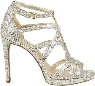 Womens Sandra Metallic Stiletto Platform Sandals