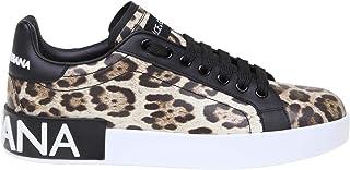 DOLCE E GABBANA Women's CK1570AA990HK13M Brown Leather Sneakers