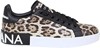 DOLCE E GABBANA Luxury Fashion Womens CK1570AA990HK13M Brown Sneakers | Fall Winter 19