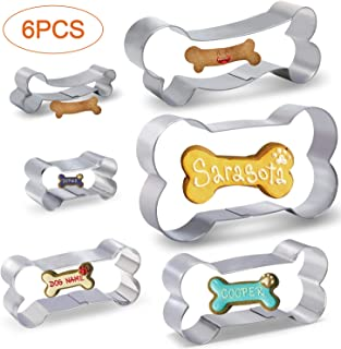 Dog Bone/Dog Biscuit Cookie Cutters for Homemade Treats, 6 PCS set Boxed package. 5.
