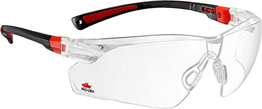 NoCry Safety Glasses with Clear Anti Fog Scratch Resistant Wrap-Around Lenses and..