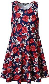 cdcd0d79245 Jxstar Girls Summer Dress Sleeveless Printing Casual/Party 3-13Years