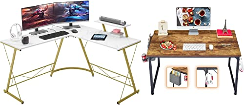 "popular Mr lowest discount IRONSTONE L-Shaped Desk 50.8"" & Computer Desk 31"" online sale"