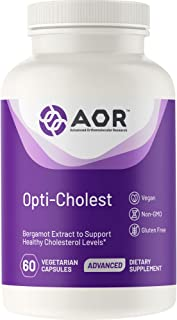 AOR, Opti-Cholest, Natural Bergamot Supplement for The Maintenance of Healthy Cholesterol and Heart Health, Vegan, 60 Caps...