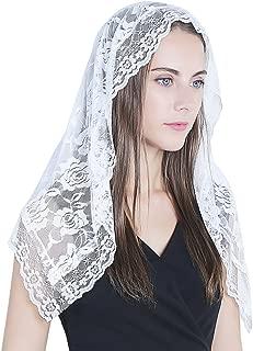 Lace Mantilla Catholic Veil Church Veil Chapel Veil Head Covering Latin Mass