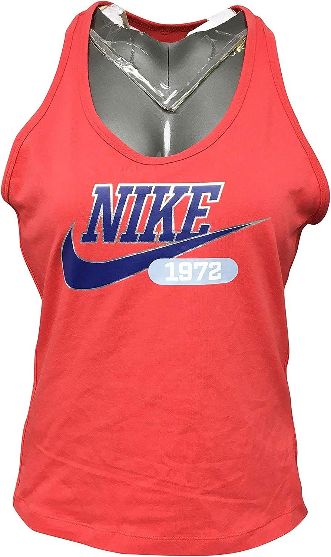 Nike Women's Tank Top Cotton/Polyester Blend CZ9086 Orange