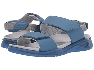 ECCO Sport X-Trinsic Leather Sandal (Retro Blue Cow Leather) Women