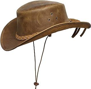 BRANDSLOCK Cappello da Cowboy da Cowboy in Stile Western Classico in Vera Pelle da Uomo