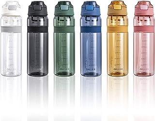 Bottiglia Acqua Plastica Riutilizzabile Termica con Paglia 850ml Piccolo Grande per l'acqua a Prova di perdite Senza BPA D36