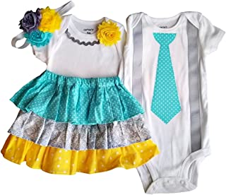 Boy Girl Twin Outfits Grace and Grayson USA Made Outfit