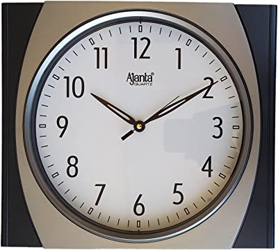 Ajanta 11 Inches Wall Clock for Home/Offces/Bedroom/Living Room/Kitchen (Step Movement, Gunmetal)