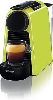 De'Longhi 德龙 Nespresso Essenza Mini EN 85L胶囊咖啡机 欢迎套装中包含不同口味的胶囊 19 bar泵压 节省空间的 柠檬黄