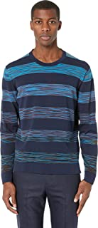 Men's Block Stripe Cotton Sweater