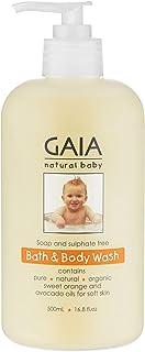 GAIA Skin Naturals Baby Bath and Body Wash, 500mL