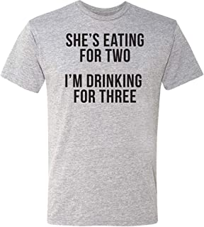 Drinking for Three – Funny T-Shirt – Pregnancy Announcement Novelty Humor Shirt