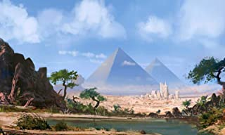 Jigsaw Puzzle 1000 Piece Wooden Puzzle Egyptian Pyramids and Lake Landscape Pattern Family Decorations, Unique Birthday Present Suitable for Teenagers and Adults
