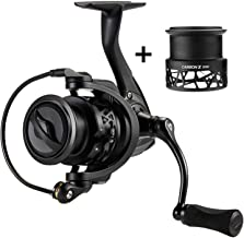 Carbon X Spinning Reel with Spare Spool 5.2:1/6.2:1 Gear Ratio Light to 162G 11Bb 15Kg Max Drag Fishing Reel