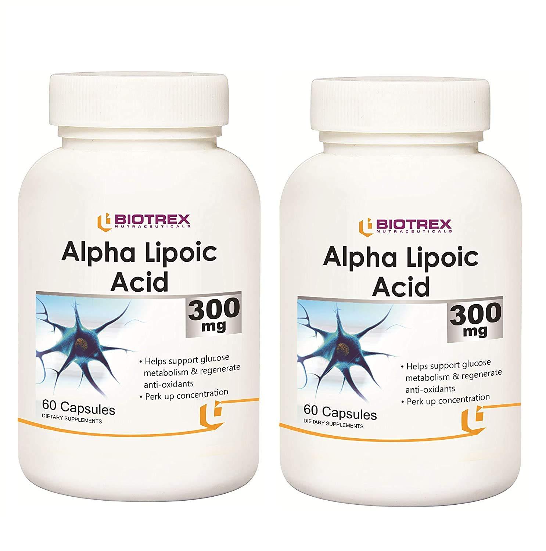 Krishna Factory outlet Biotrex Albuquerque Mall Alpha Lipoic Acid 300mg antioxidant Powerful -