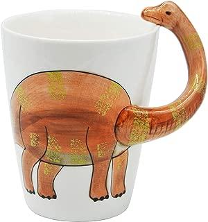 3D Coffee Mug,Cute Animal Dinosaur Shaped Ceramic Drinking Cup