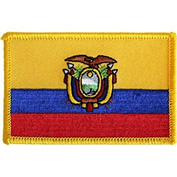 "ECUADOR FLAG Iron On Patch 2 1//2/"""