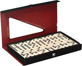 D6 Standard Dominoes Ivory with White Pips
