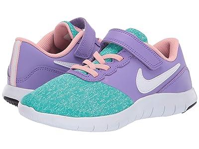 Nike Kids Flex Contact (Little Kid) (Space Purple/White/Hyper Jade) Girls Shoes