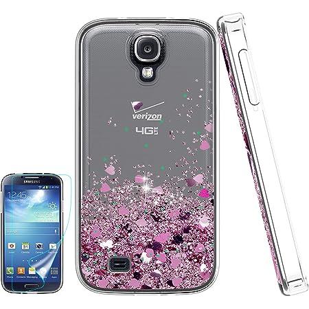 Carcasa Para Samsung Galaxy S4 Líquida S4 Con Protector De Pantalla Hd Para Las Niñas Atump Bling Brillante Moving Quicksand Liquid Tpu Funda Protectora Para Samsung Galaxy S4 Rosado